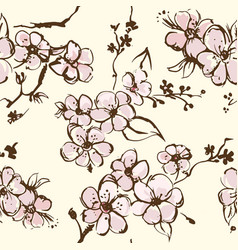 springtime wallpapper with apricot blossom vector image