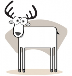 Square animal deer vector