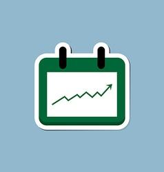 Stock raise up high with calendar vector