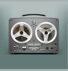 Stock realistic tape recorder vector