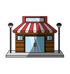store retail building vector image
