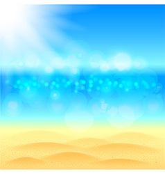 Summer background with beach sea and sky vector image