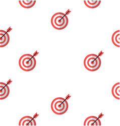 Target red icon with arrow seamless pattern vector