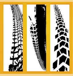 Tire banners vector