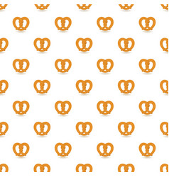traditional pretzel pattern seamless vector image