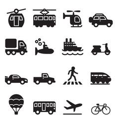 Transport icon set vector