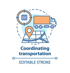 Transportation coordination concept icon vector