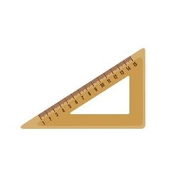Triangle ruler icon in flat style vector