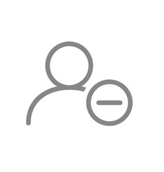 User profile with minus line icon rejected vector