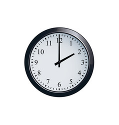 Wall clock set at 2 o clock vector