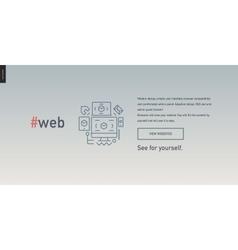Web design block website template vector