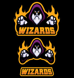 Wizard cartoon mascot vector