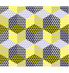 yellow and gray geometry hexagon seamless fabric vector image