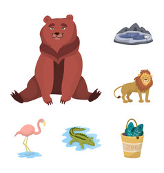 zoo and park icon vector image