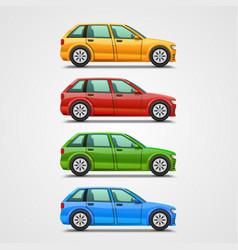 car color set art vector image vector image