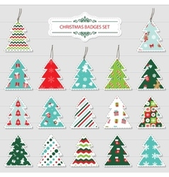 Christmas and new year labels and stickers vector