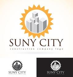 Construction development building company logo vector image