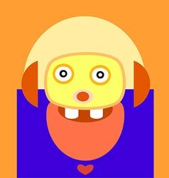 cute monster design vector image