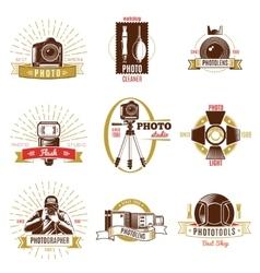 Retro Photographer Label Set vector image