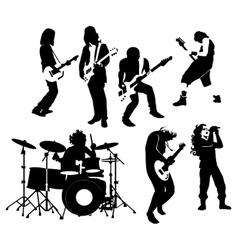 Rock musicians vector