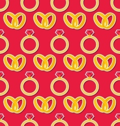 Seamless Wallpaper with Rings for Valentines Day vector image