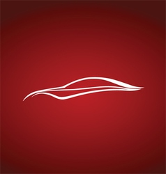 Speedy auto logo over red vector image