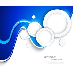 Abstract wavy background with circles vector image vector image