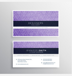 Awesome triangle pattern business card design vector