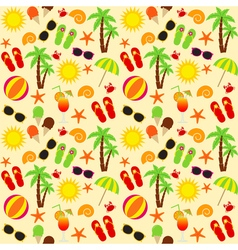 Beach Seamless Pattern vector image