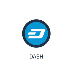 dash cryptocurrency icon title vector image