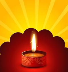Diwali diya background vector image vector image
