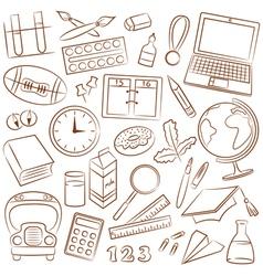 school education icons vector image