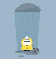 Happy in the Rain vector image vector image