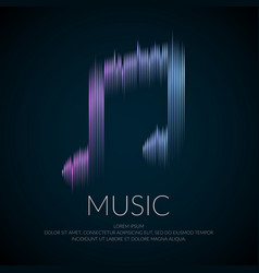 Modern logo or emblem music note in the form of vector