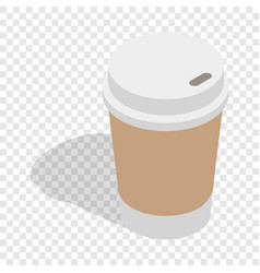 paper cup of coffee isometric icon vector image