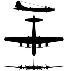 Boeing B29 Superfortress vector image vector image