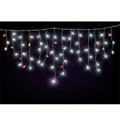 Colorful Christmas light vector image