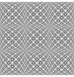 Design seamless monochrome warped grid pattern vector image