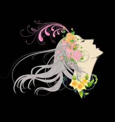 floral girl vector image vector image