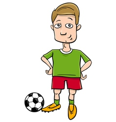 football player character cartoon vector image