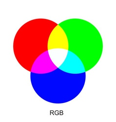 rgb color chart vector image vector image