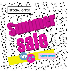 sale poster with geometric shapes vector image vector image