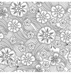 abstract hand drawn outline seamless pattern vector image
