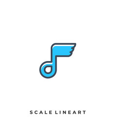 abstract scale template vector image