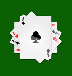 aces in roll vector image