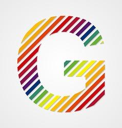Alphabet Letter G vector