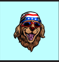american animal funny dog vector image