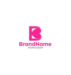 B love logo design vector