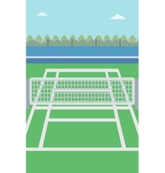 Background of tennis court vector image