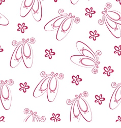 Ballet shoes pattern vector image vector image